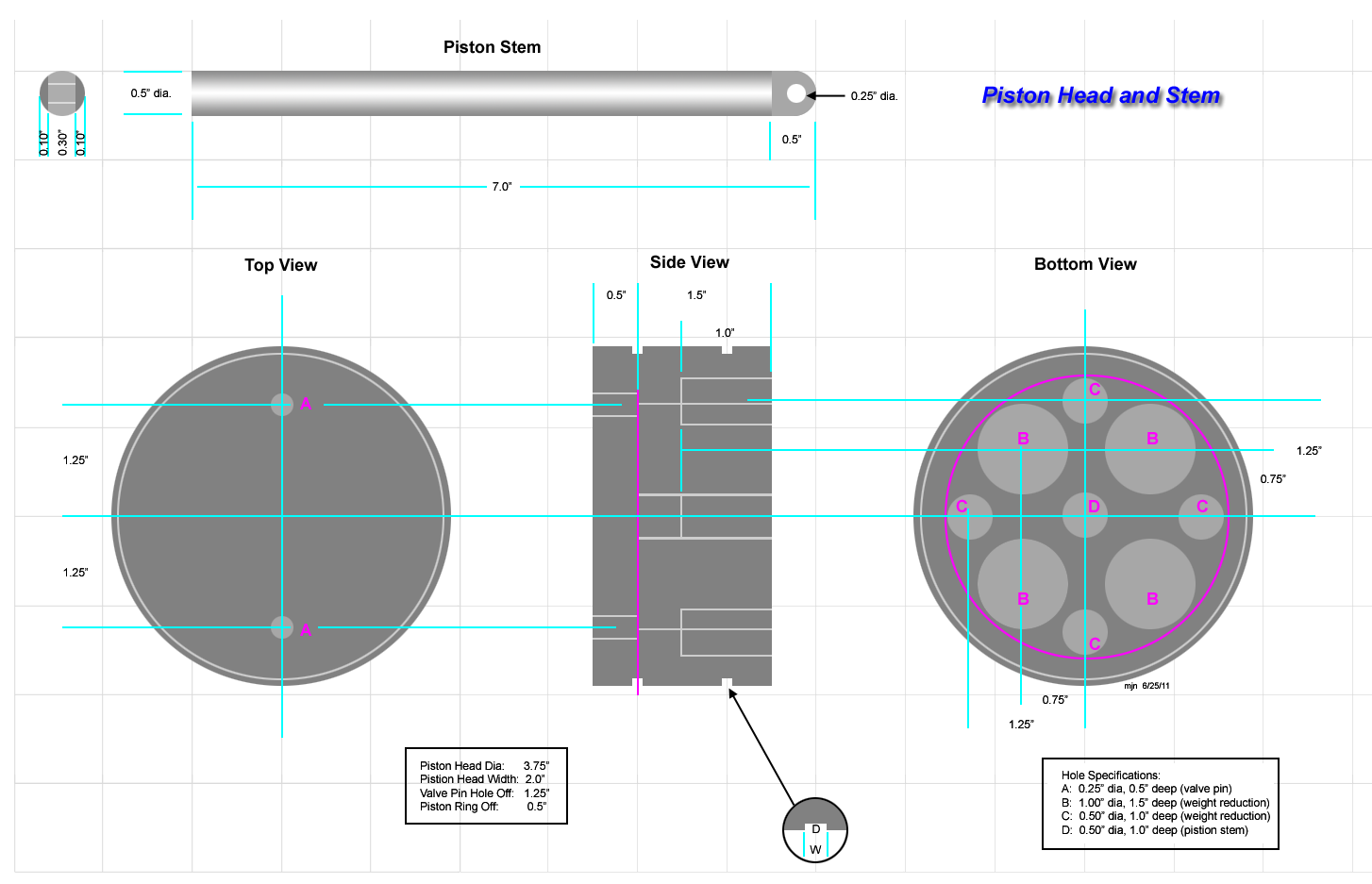 Steam Engine Build Piston Head Open Source Ecology Diagram Spec