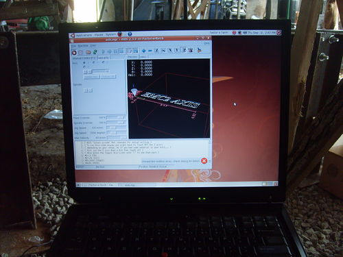 LinuxCNC running on IBM laptop