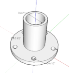 "June 5, 2013, Hub attachment redesigned for the 21"" wheels found in workshop"