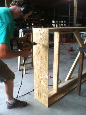 Attaching osb microhouse doorframe.JPG