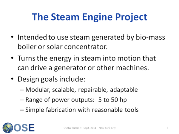 The Steam Engine Project